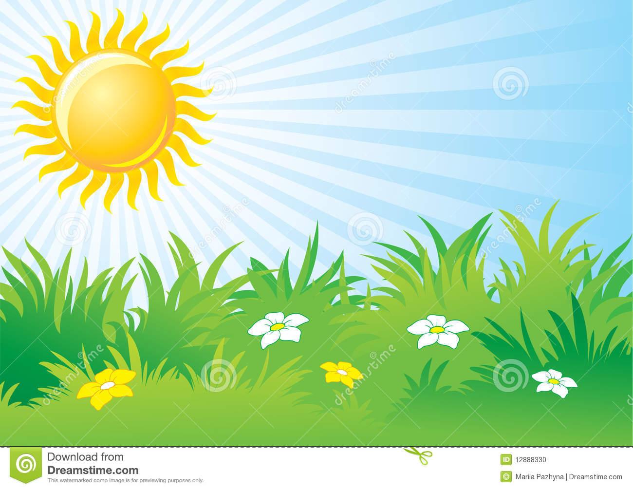 Bright day . Sunny clipart scene sunny