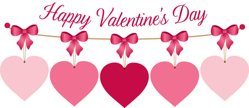 Happy valentines day border. Valentine clipart borders