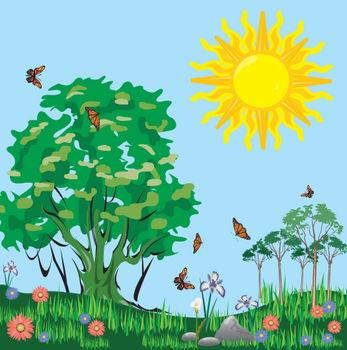 Day cartoon panda free. Sunny clipart scene sunny