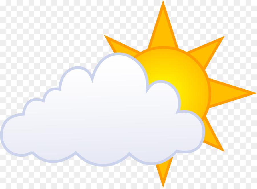Sunny clipart clip art. Cloud cartoon yellow leaf