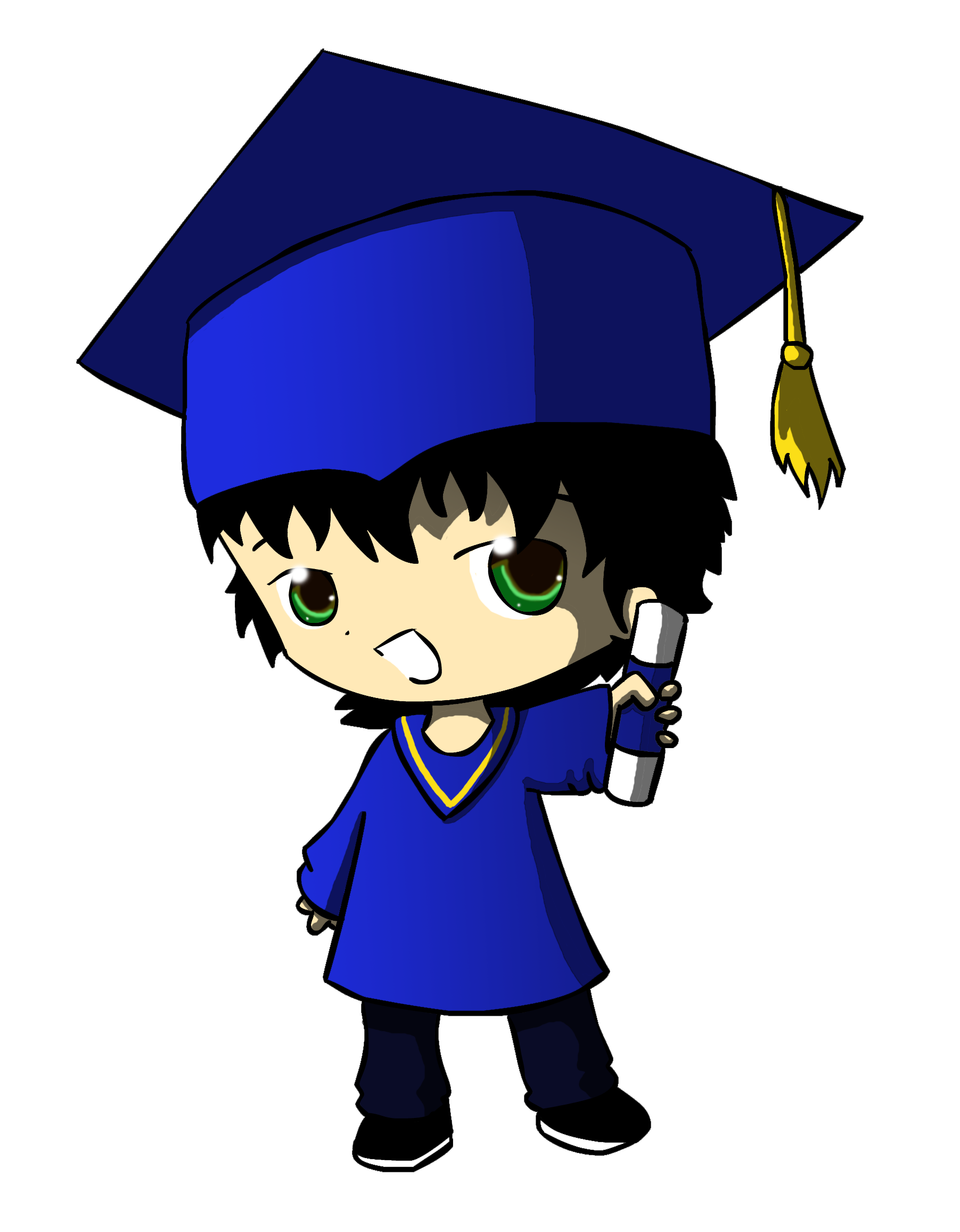 Graduates silhouette at getdrawings. Future clipart grad