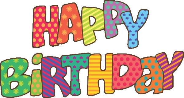 Clip art set at. Words clipart happy birthday