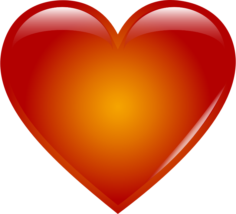 Day clipart pdf. Red heart medium image