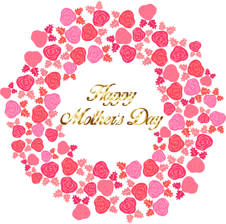 Day clipart pdf. Happy mothers bouquet of
