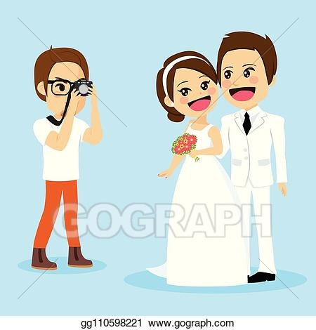 Eps vector newlywed couple. Day clipart photo session