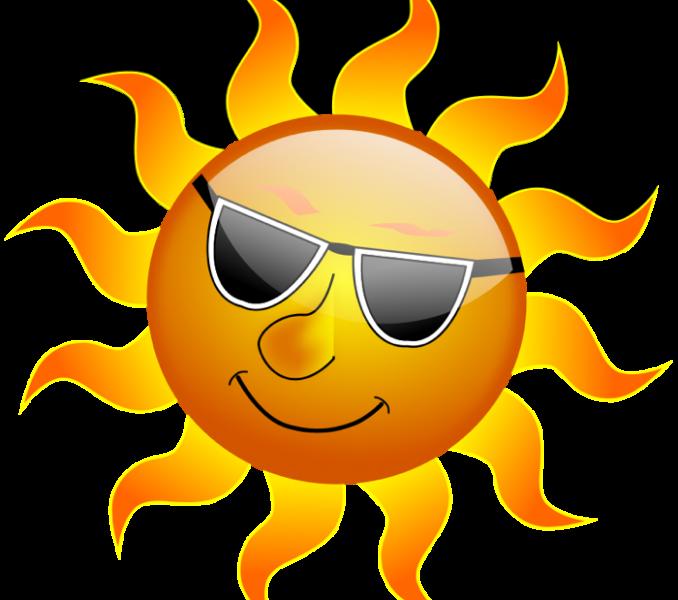 Day clipart summer. Hot cute sun weather