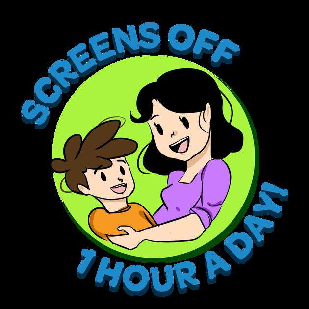 Friendly clipart social hour. All screens off a