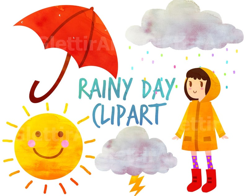 Rainy umbrella for personal. Day clipart weather