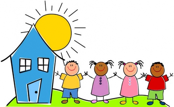 Arrival to day care. Daycare clipart
