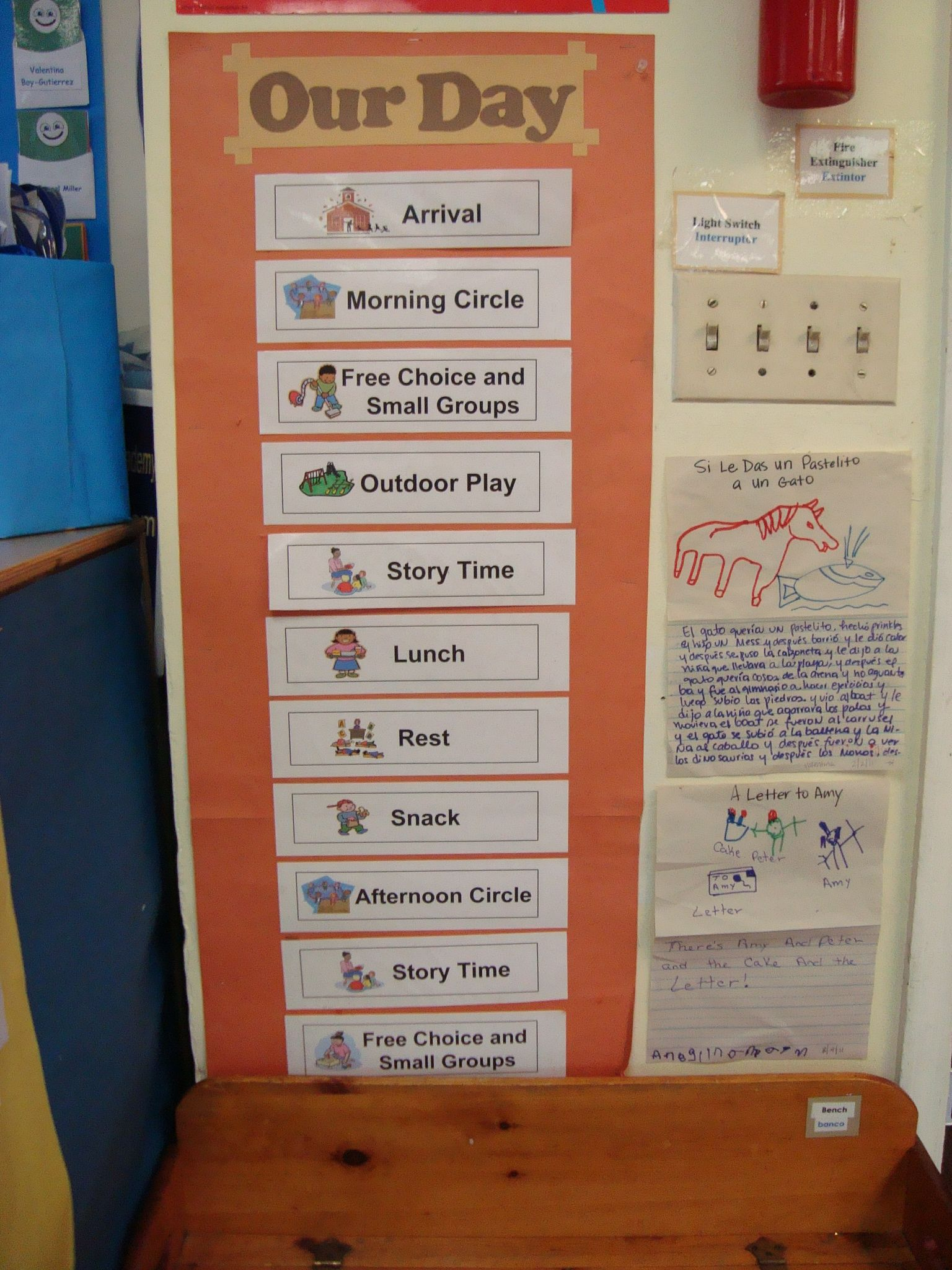 Schedule clipart daycare. Preschool daily classroom
