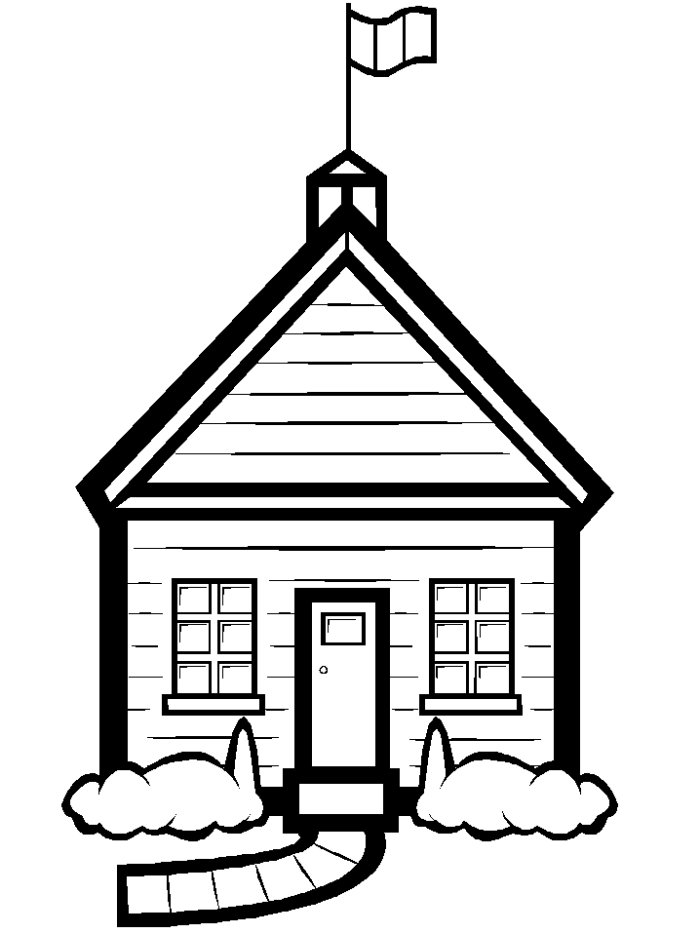 Free daycare download clip. Schoolhouse clipart outline