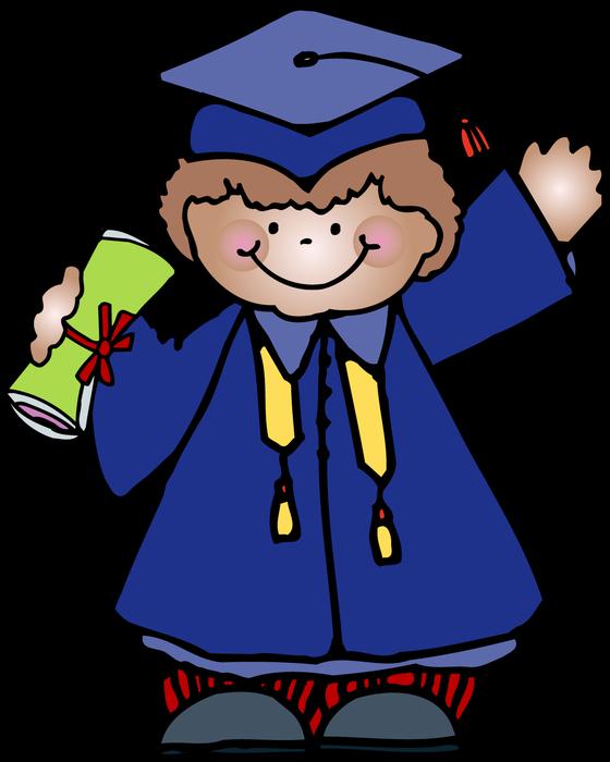 Amerimont academy cap gown. Daycare clipart graduation