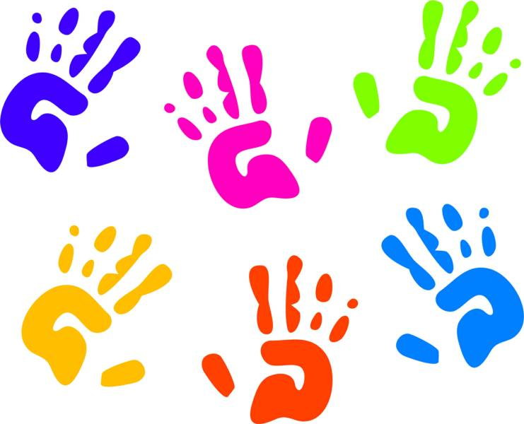 Daycare free download best. Handprint clipart day care
