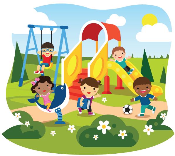 Home maple child care. Playground clipart school environment