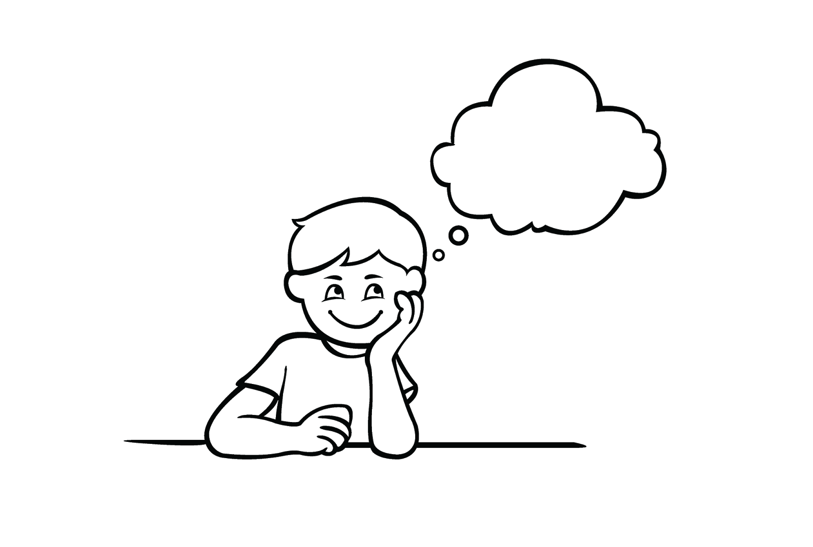 Dreaming clipart dream line.  daydreaming sad huge