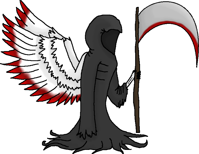 Wing clipart fallen angel.  collection of death
