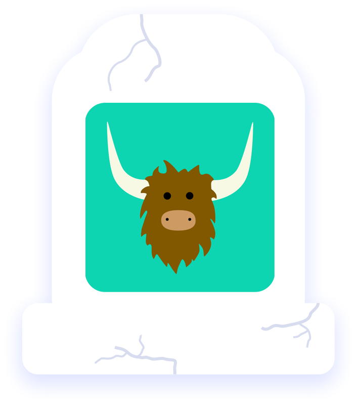 Yak clipart head. Product graveyard commemorating the