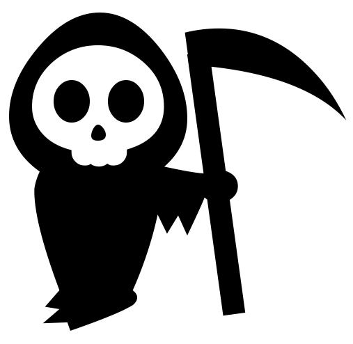 Free black cliparts download. Death clipart sickle