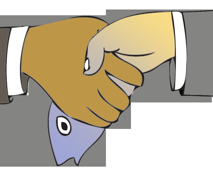 The art of merzybean. Handshake clipart trade