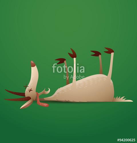 Dead clipart dead goat. Vector funny lies cartoon