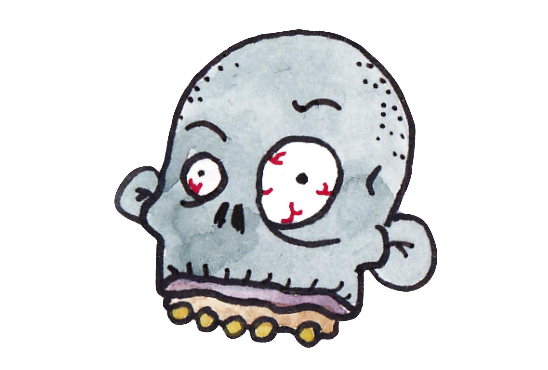 Heads surviving the dead. Zombie clipart zombie head