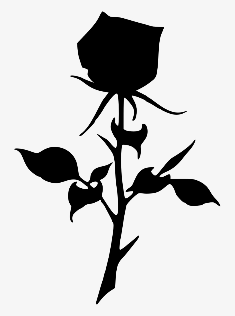 Dead clipart dead rose. Angel silhouette holding a