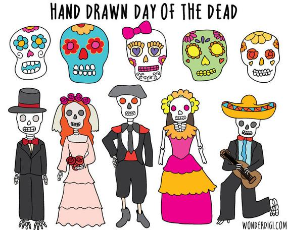 Dead clipart gone. Day of the halloween