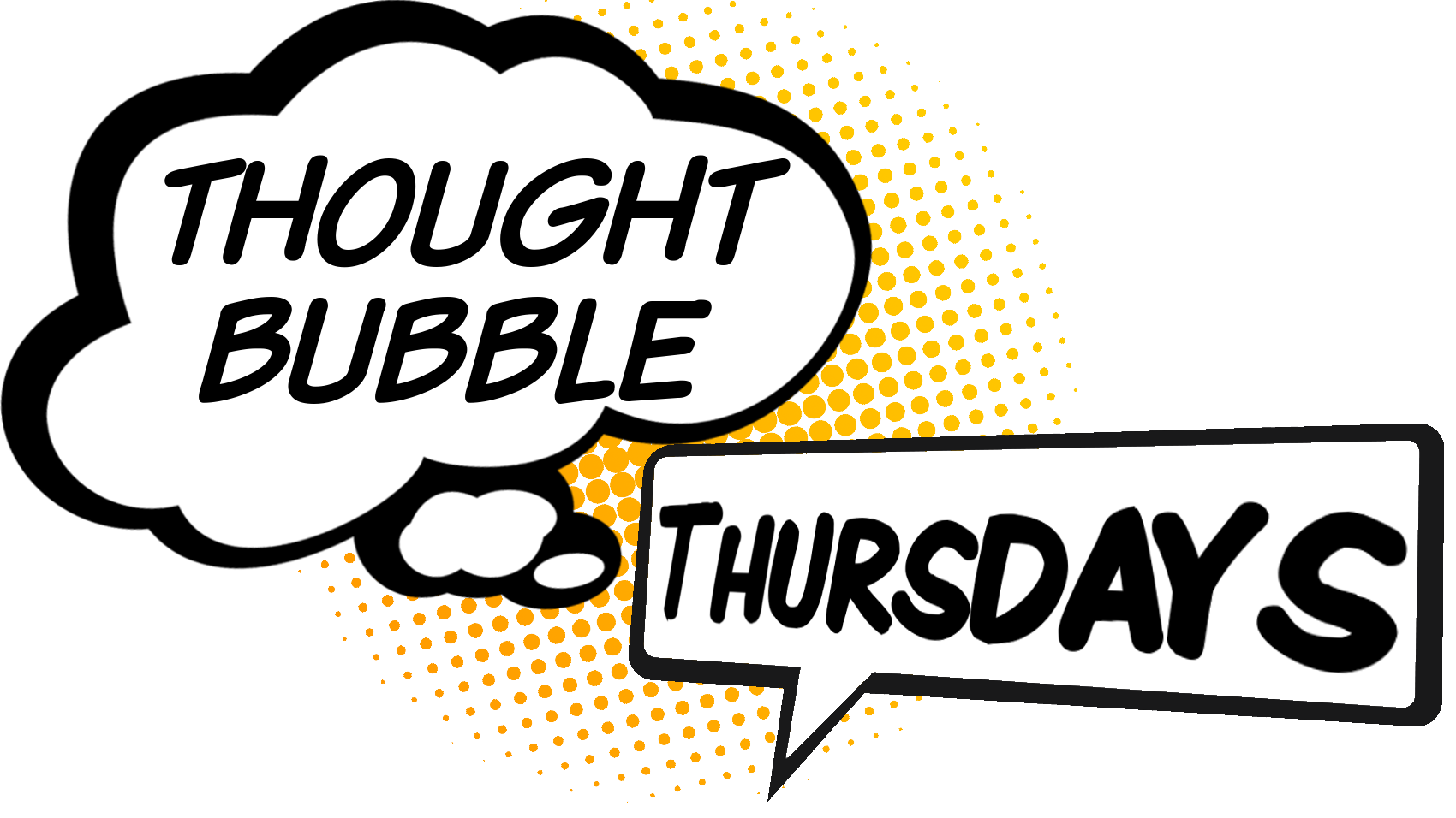 Lightning clipart comic book. Thought bubble thursdays nobody