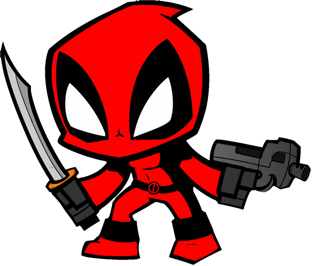 Chibi drawing collections. Deadpool clipart