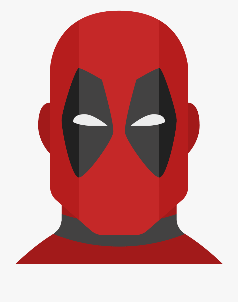 Icon in flat style. Deadpool clipart avatar