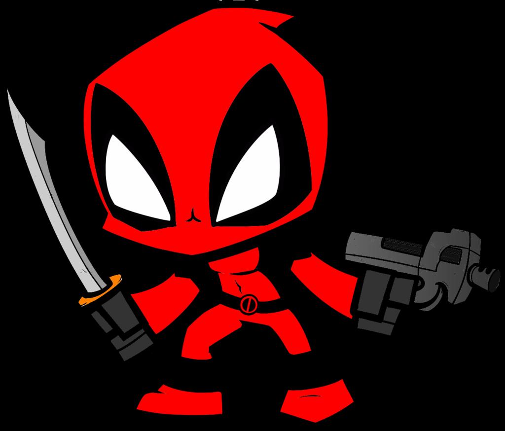Deadpool chibi by treez. Joker clipart gag gun