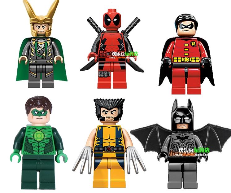 Deadpool green lantern robin. Legos clipart set