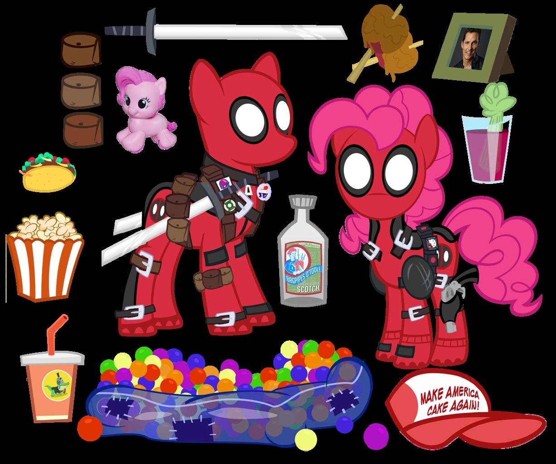Deadpool clipart simple cartoon.  artist pixelkitties ball