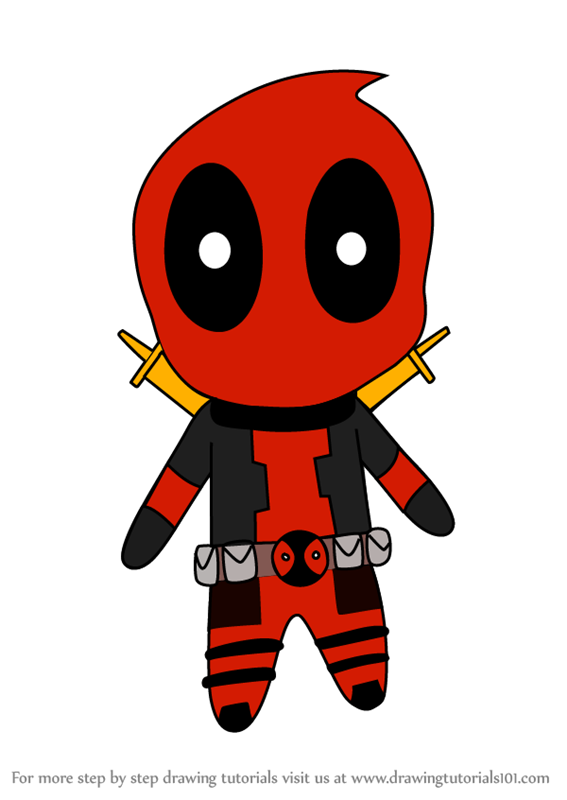 Drawing free download best. Deadpool clipart simple cartoon