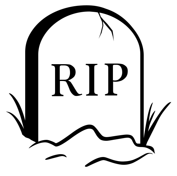 collection of rip. Death clipart