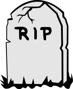 Black and white free. Death clipart