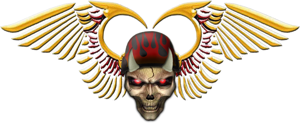 Wing clipart skull. Hells angels motorcycle club