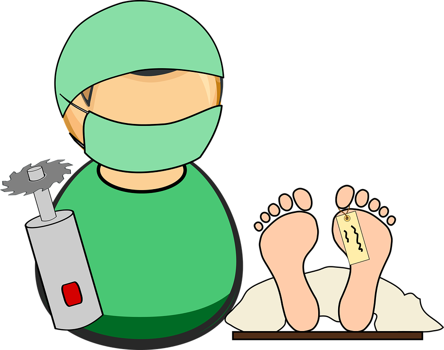 And the people . Dead clipart autopsy