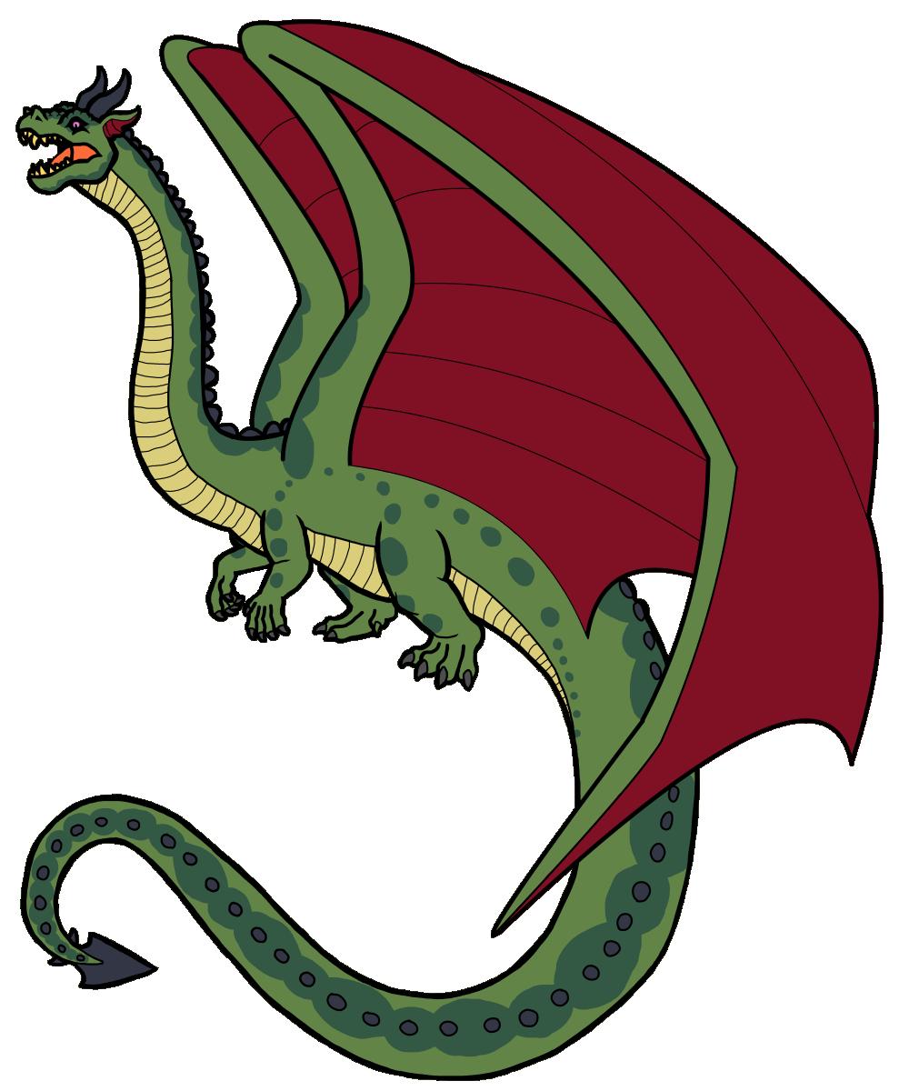 Death clipart dead dragon. The midgaheim bestiary grand