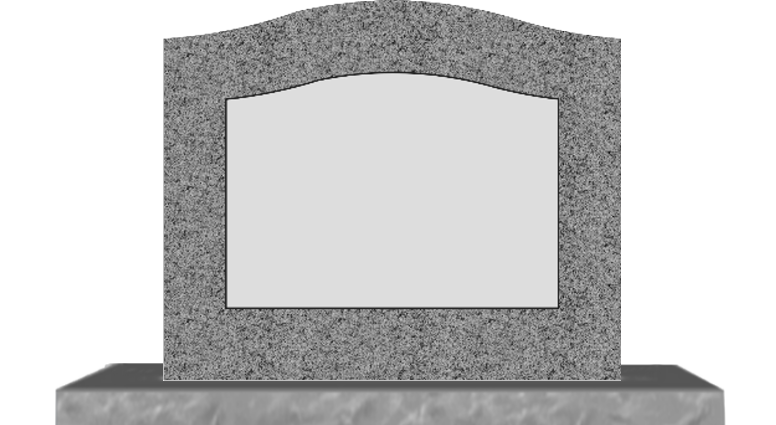 Grey single monument with. Death clipart epitaph