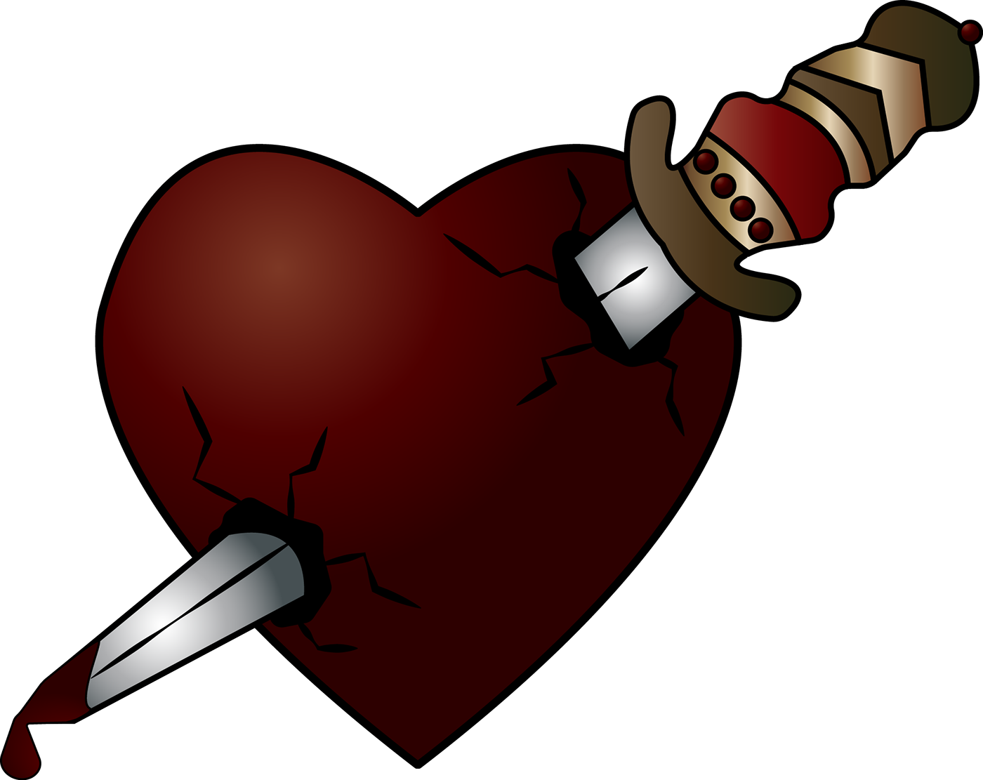 Romeo juliet poster project. Hearts clipart dagger