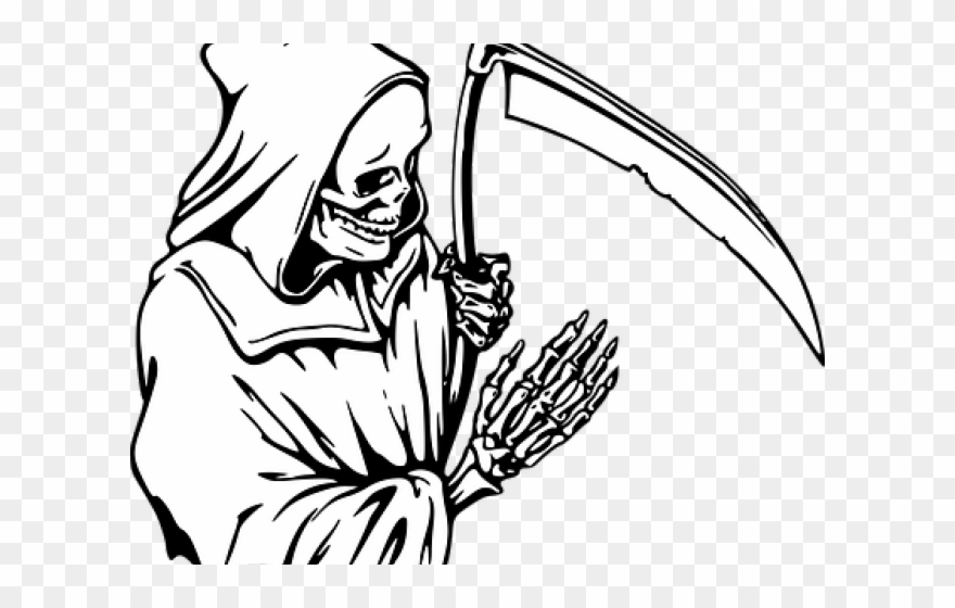 Death clipart sickle. Reaper drawing png download