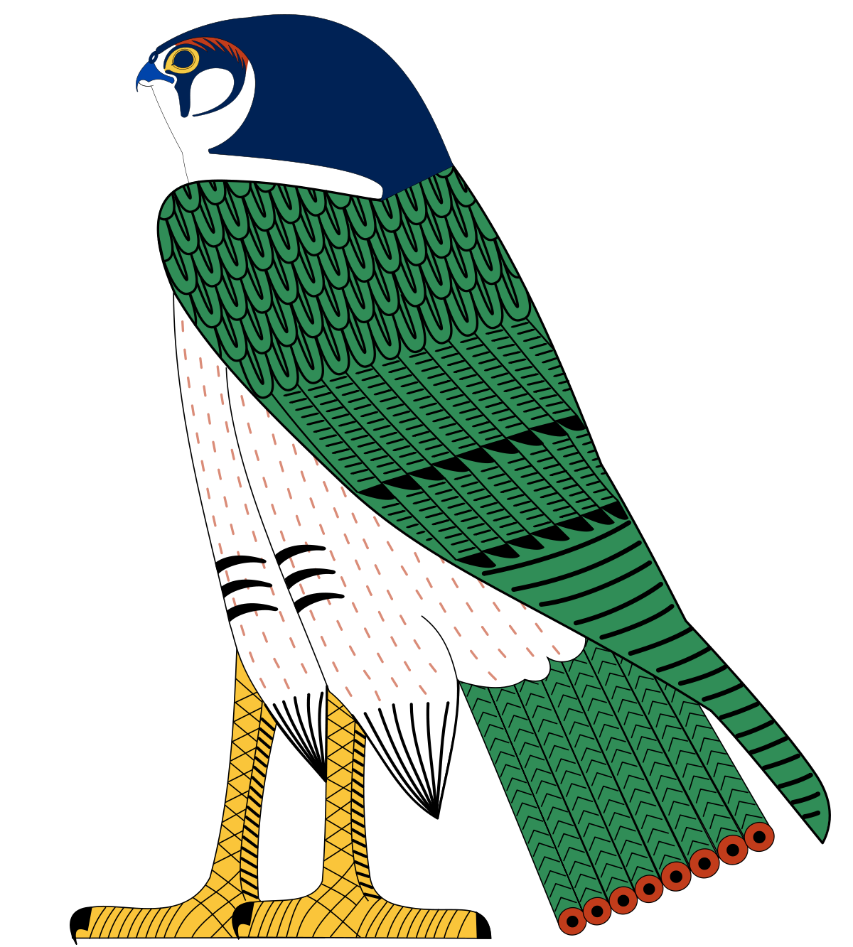 Horus wikipedia art pinterest. Falcon clipart large bird