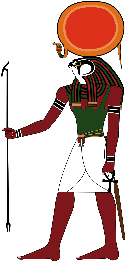 Egypt clipart mesopotamian god. Ra hawk head and