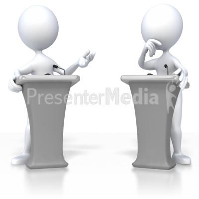 Debate clipart. Stick figure d figures