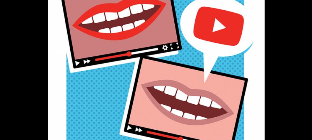 Youtuber views world news. Movement clipart vigorous
