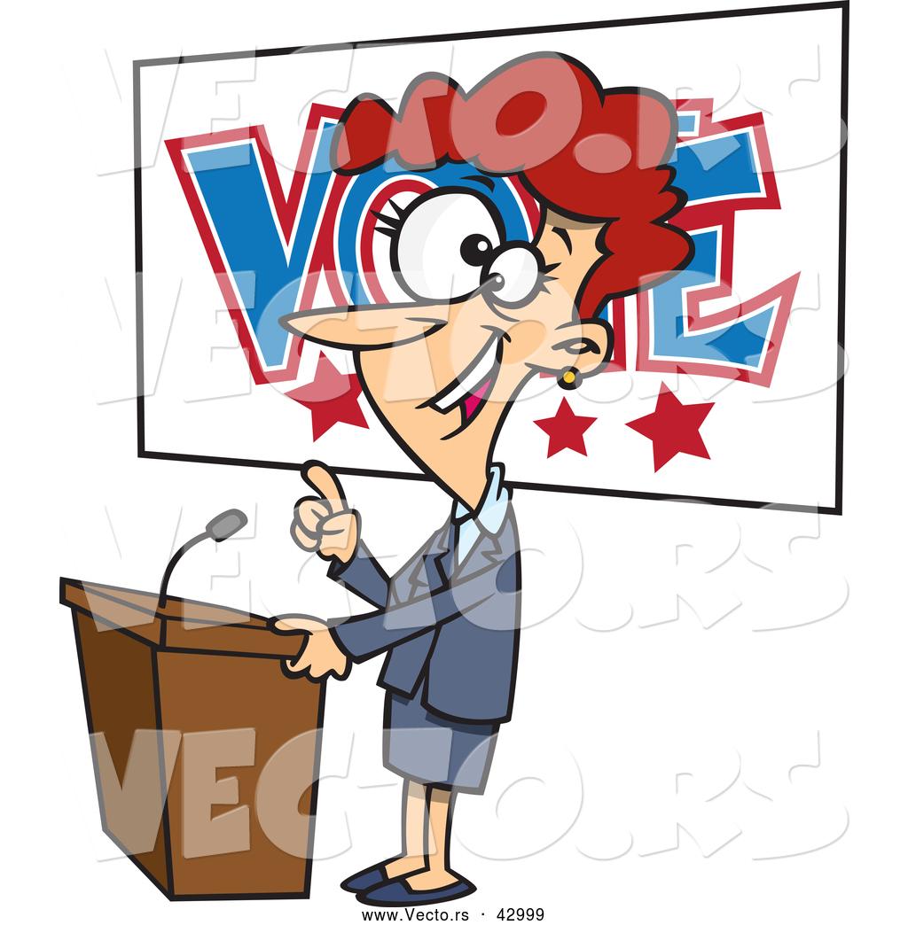 debate clipart female mayor