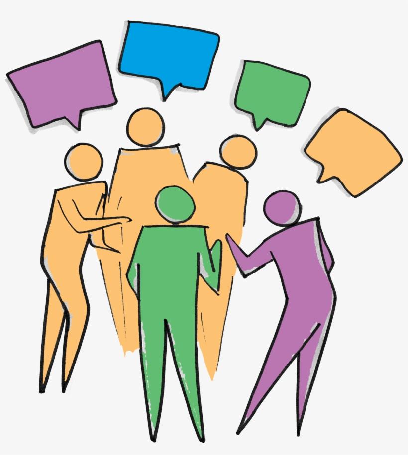 Diversity of people talking. Politics clipart group debate