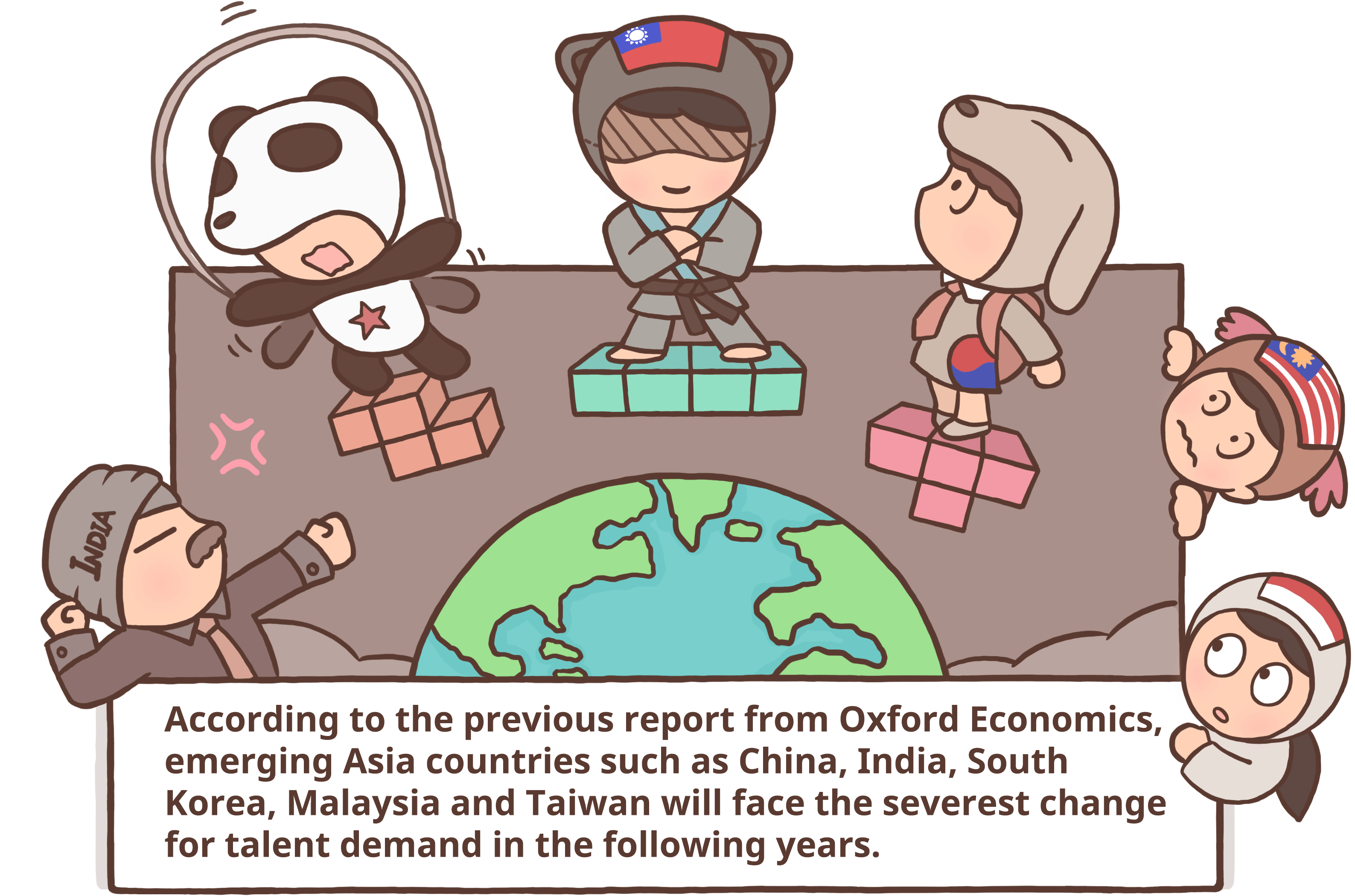 Striving for international talents. Economics clipart paycheck