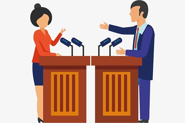 Business background illustration . Politics clipart debate